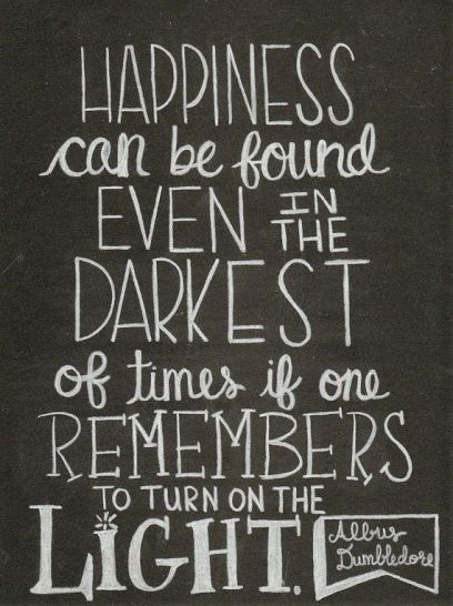 Happiness Dumbledore quote