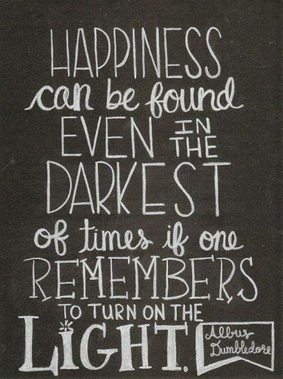 Happiness Dumbledore quote