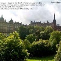 Writer's Quote Wednesday: Edinburgh First UNESCO City of Literature