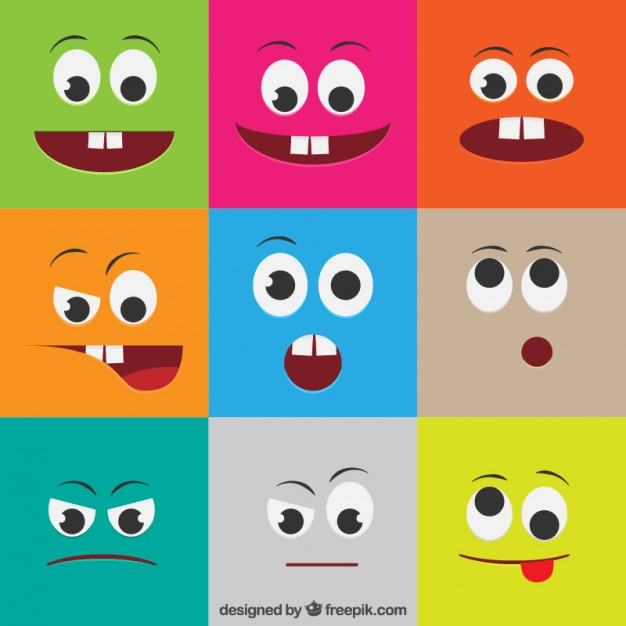 colorful-faces-with-different-expressions_23-2147519035