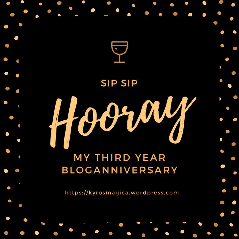 My Third YearBlogANNIVERSARY